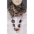Luxusní kašmírová dámská šála s doplňky - tygrovaná