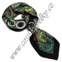 Hedvábný šátek s bižuterií - Zb071/41